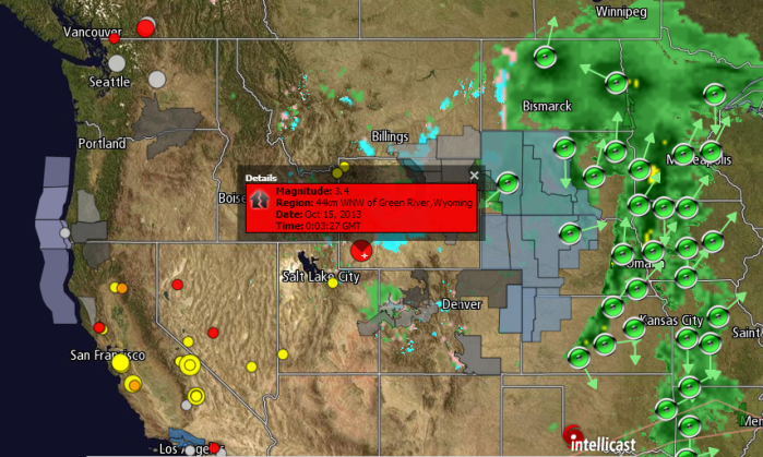 3.4M EARTHQUAKE  WNW OF GREEN RIVER, WYOMING