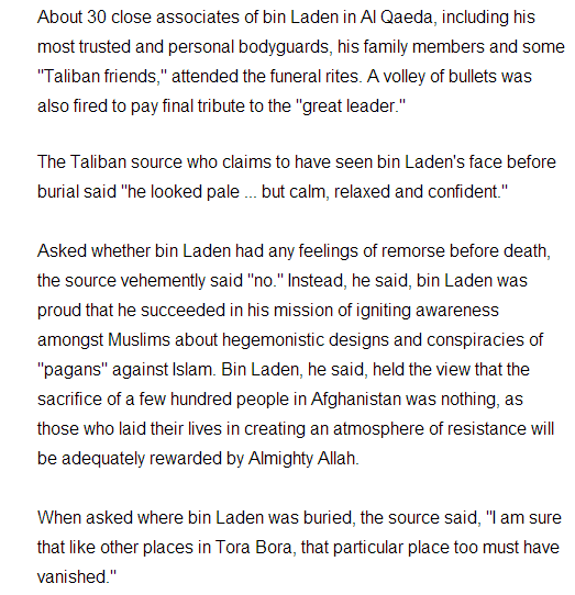 Report: Bin Laden Already Dead Published December 26, 2001FoxNews.com