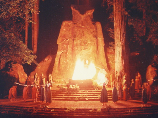 Cremation Of Care ceremony at The Bohemian Grove