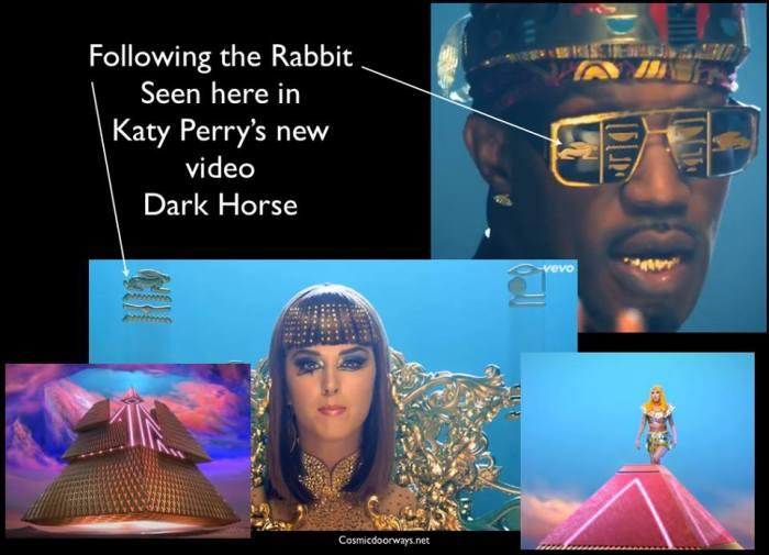 via Mark Gray: The RABBIT strikes again! This time in Katy Perry's new DARK HORSE video released today!