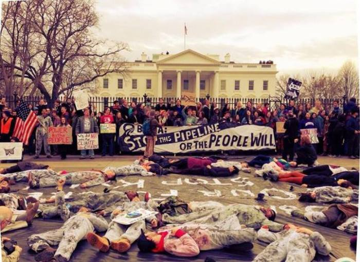 Hundreds of climate activists are being arrested at the White House, saying if Obama doesn't stop the KXL pipeline, they will. Complete blackout from the mainstream media. 3-2-2014