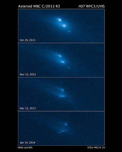 Found: Mysterious asteroid falling apart at a rate of 1 mile per hour.