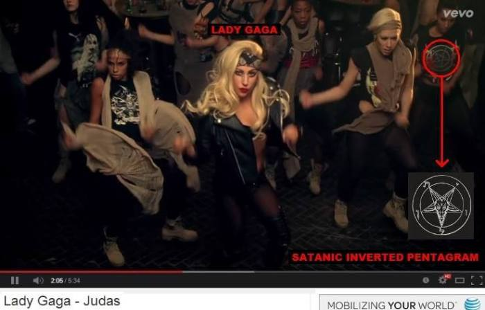 exact same symbolism just as you see here with music artist LADY GAGA in her music video