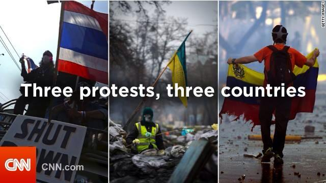 Mark Gray 2-20-2013: Trident. Protests rock Ukraine, Venezuela, Thailand