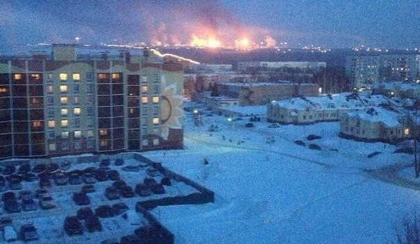 Largest Oil Refinery In Europe is On Fire in Russia! 3-3-2014