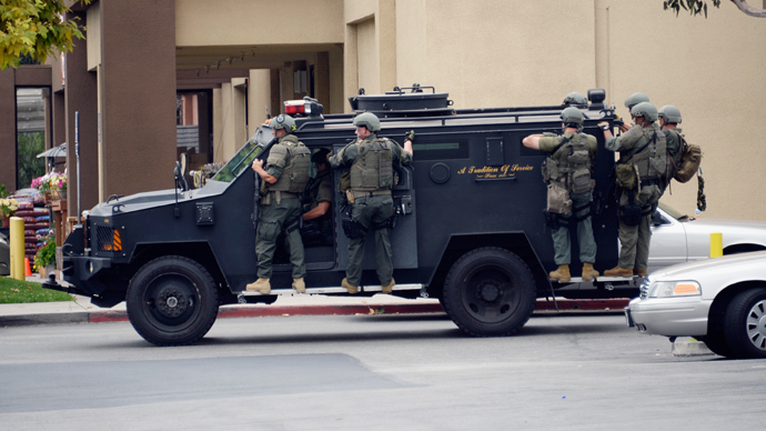 Police in Salinas, California are under fire after the department acquired a heavily armored military vehicle for SWAT team operations.
