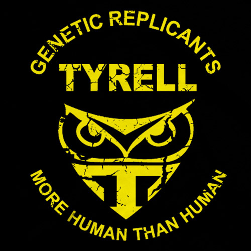 "(Bladerunner) ""Tyrell Corporation"" logo is an Owl and a Trident and there offices are pyramids."