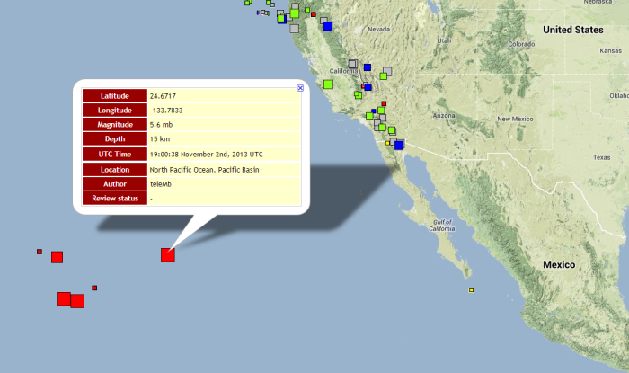 **ALERT** Ah so something is going on in the Pacific Ocean that isn't showing up on any other earthquake maps!!!!