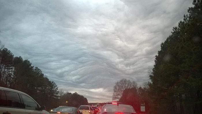 Sean tweeted this picture of the sky of over Atlanta on Tuesday, Feb. 25, 2014. (Twitter Photo/@seanenslin).