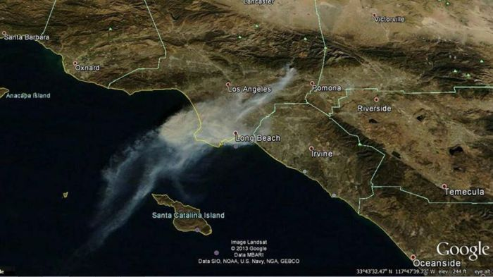 #ColbyFire MODIS image on a Google Earth Background. 1-16-2014