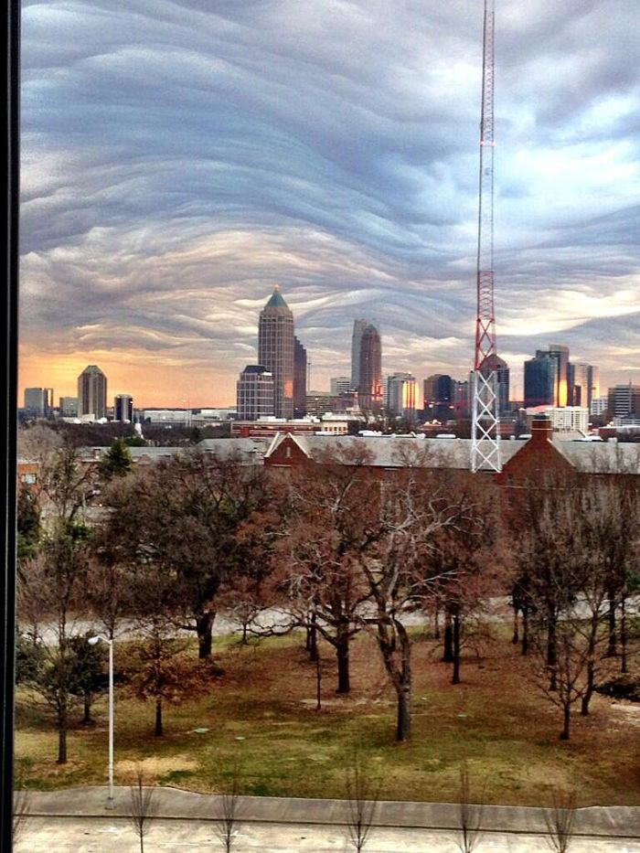 Jeremy Campbell captured another shot of the clouds in Atlanta on Tuesday, Feb. 25, 2014. (Twitter Photo/@Jeremy11alive).