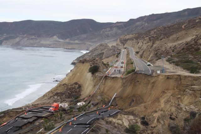 Landslide in Ensenada Baja California , Mexico on 12-29-2013