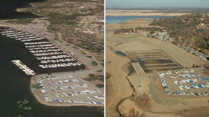 1-24-2014 - Stunning before and after images of California's drought depleted lakes: http://wxch.nl/1mQhrhN