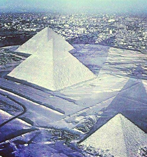 Snow In Cairo, Egypt 12-14-2013