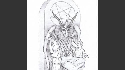OKLAHOMA CITY —  A satanic group unveiled designs Monday for a 7-foot-tall statue of Satan it wants to put at the Oklahoma state Capitol, where a Ten Commandments monument was placed in 2012. ( 1-07-2014 )