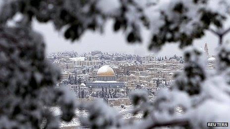 Jerusalem Snow 12-14-2013