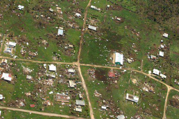 This aerial photo released by the Royal New Zealand Air Force, taken on Saturday, Jan. 11, 2014, shows the damage to Ha'apai island group, in Tonga, following Cyclone Ian. Tongan officials said about 300 to 400 families had their homes severely damaged or destroyed in the powerful storm that struck Saturday but they are relieved the death toll hasn't risen beyond one. Photo: Royal New Zealand Air Force