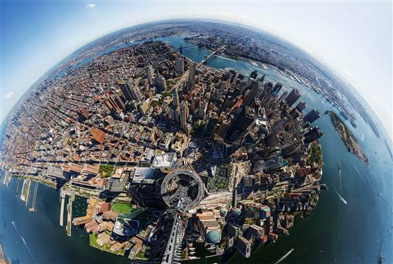 360 Degree View from a top the WTC