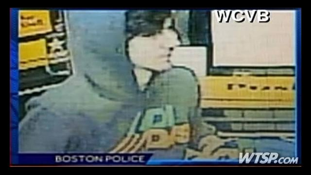 "Surveillance image taken from a Cambridge 7-Eleven on Thursday, April 19 2013 showing Boston Marathon bombing ""Suspect 2,"" Dzhokhar A. Tsarnaev. Photo courtesy WCVB via CNN."