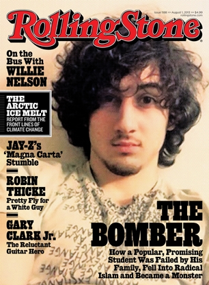Dzhokhar Tsarnaev on the cover of Rolling Stone in July 2013