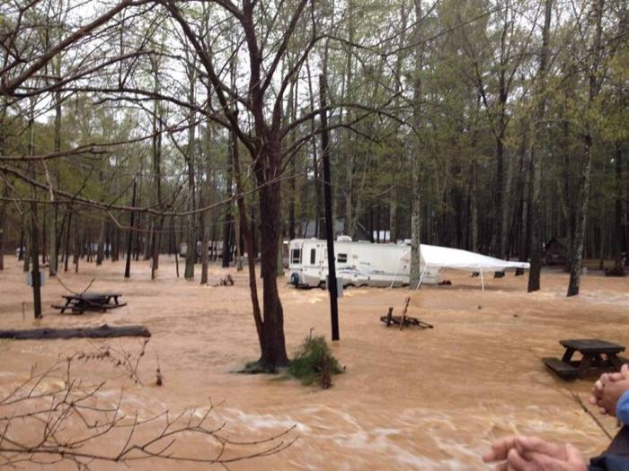4-7-2014: Serious flooding at Tannehill State Park in Alabama after heavy rains came thru the area Photo by William Vining