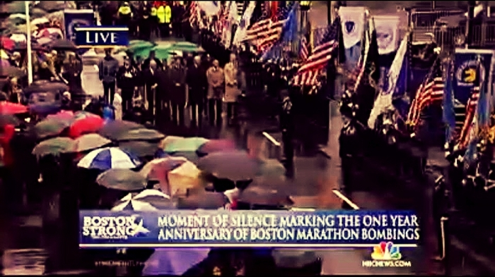 4-15-2014: Moment of silence held to mark one year anniversary of Boston Marathon bombings