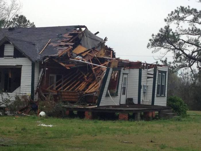 4-7-2014: Tornado damage in Beaufort County, NC. Photo from @DaveJordanWITN