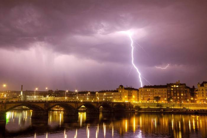4-20-2014:  lightning over Prague, Czech Republic. Source: Martin Giertl