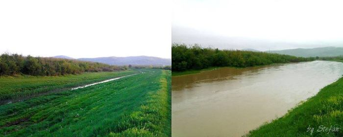 4-16-2014: Flooding in Modriča, Bosnia and Herzegovina yesterday after cold front passage with excessive rainfall. Photo sent to us by C.P.