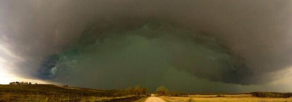 4-13-2014: Tornado earlier near Bray, OK -- via Sky News 9 Oklahoma City