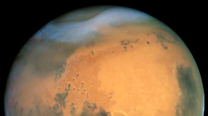4-27-2014: New research has suggested that water was flowing across the surface of Mars some 200,000 years ago. The nature of rock formations in a Mars crater suggests the sediment deposits and channels it contained were formed by 'recent' flowing water.