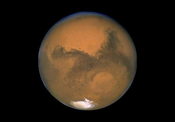 4-8-2014: Tuesday night, when Mars, Earth, and the sun will be arranged in a nearly-straight line. Mars will be 10 times brighter then the brightest stars in the sky, be orange in color and visible all night long.  More details: http://usat.ly/1h9s7GQ