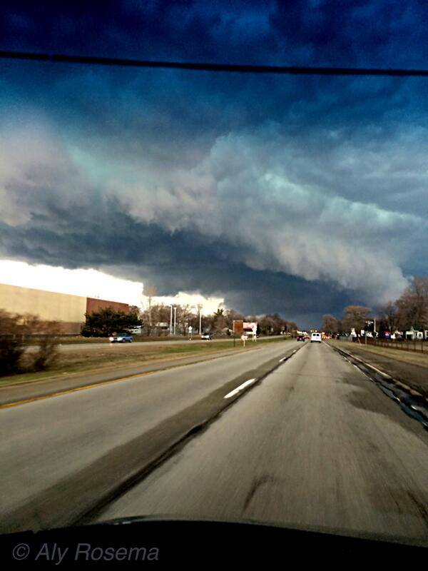 4-12-2014: Severe weather in lower Michigan.  Photo by Aly Rosema