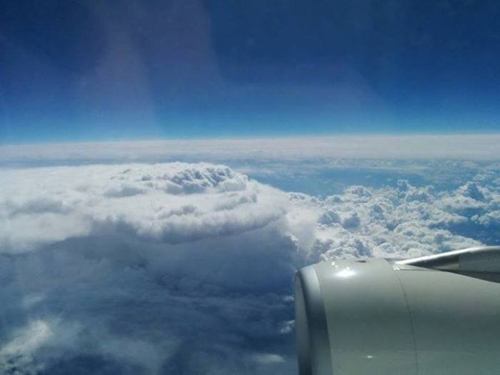 4-18-2014: Aerial view of a thunderstorm over Banat area (Romania). Photo: Nikola Pavlović via. our partners MeteoPlaneta