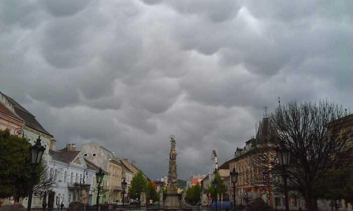 4-19-2014: Košice, Slovakia earlier this afternoon.  Source: Marc Favre