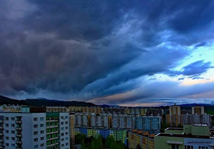 4-19-2014: Thunderstorms over Banská Bystrica, Slovakia. photo by Patrik Resovsky.