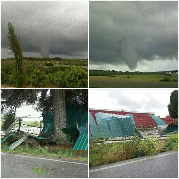 4-20-2014: Another report by Jesús Sánchez confirms the Marchena, Sevilla, Spain tornado.  Source: Jesús Sánchez @JesusSanchez on Twitter