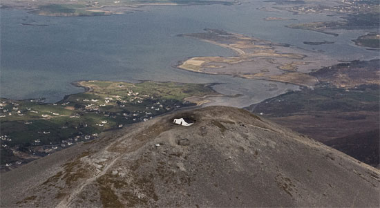 According to The Mayo News, this chapel has just been swallowed by a huge sinkhole and is almost completely destroyed. The swallowed chapel has been discovered by a regular pilgrim at around 7:30 am on Monday, March 31, 2014.