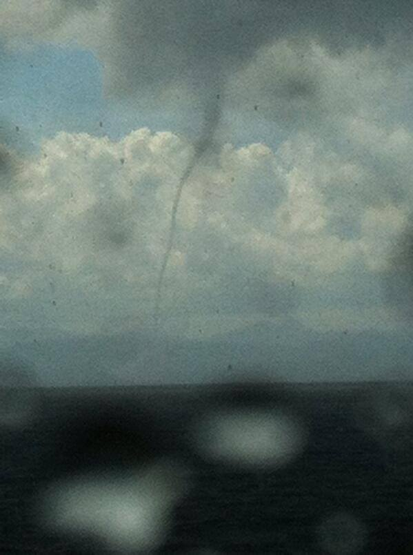4-19-2014: Waterspout in Ayvalık, Balıkesir Province, Turkey this morning. Source: Rifat via twitter @RifatKiran / ESWD
