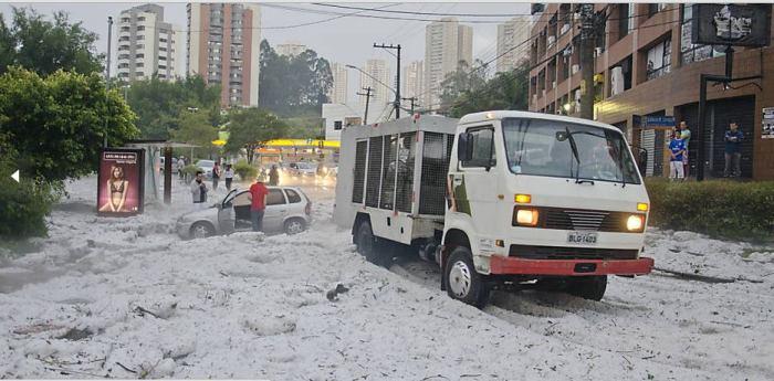 5-18-2014: Major Hailstorm In Brazil.