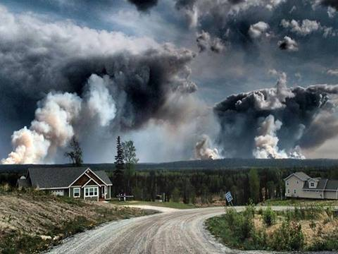 5-27-2014: A massive wildfire burning in Alaska's Kenai Peninsula south of Anchorage has grown to more than 218 square miles in windy conditions. Mandatory evacuations are underway. STORY & PICTURES: http://ch7ne.ws/1iiGuFB Photo courtesy: Will Spear #funnyriverfire