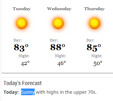 5-12-2014: Today's Forecast for Creswell, Oregon. (What a joke lol) - SEE pics below.
