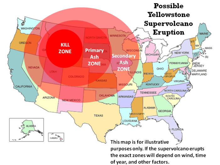 WYOMING - If the Yellowstone supervolcano erupts then millions of U.S. citizens could end up in Brazil, Australia, or Argentina. That's according to the South African news website Praag, which said that the African National Congress was offered $10 billion a year for 10 years if it would build temporary housing for Americans in case of an eruption. The potential eruption of the supervolcano, one of the biggest in the world, has been a hot topic ever since videos of animals allegedly fleeing the area before an earthquake were posted online. Although the veracity of the claims haven't been backed up, dozens of bloggers and others have been trying to figure out what, if anything, is going on. One of the latest theories is that the U.S. Geological Service and its partners, which keep an eye on the caldera, are hiding data from the public. The Praag article says that the South African government fears that placing so many Americans in South Africa could dramatically change the country.