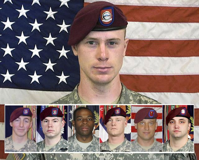 From left, PFC Matthew Martinek, SSG Kurt Curtiss, PFC Morris Walker, SSG Clayton Bowen, 2LT Darryn Andrews, SSG Michael Murphy. This undated image provided by the U.S. Army shows Sgt. Bowe Bergdahl. The case of Bergdahl, held by the Taliban since 2009, has arisen again as the U.S. and other countries engage in diplomatic efforts to end his capture. But if he is released, will America's only prisoner of the Afghan war be viewed as a hero or a deserter? (AP Photo/U.S. Army) At least six soldiers died while searching for Sgt. Bowe Bergdhal in hostile Taliban territory when he went missing in Afghanistan five years ago. And now, those who served with those six say Mr. Bergdhal is at fault for their deaths because he abandoned his military post, the New York Post reported.