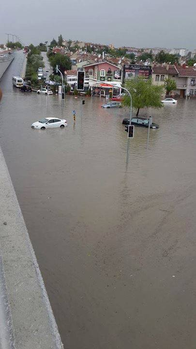 6-6-2014: Torrential rains and storms cause flooding in parts of Ankara. Photos from Turkish meteorological service