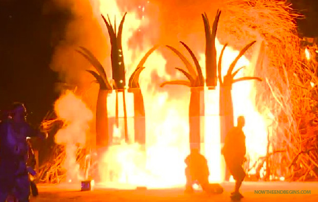 7-12-2014: A man killed himself at Burning Man-style arts festival by leaping into a towering fire in front of hundreds of horrified onlookers, authorities and witnesses said. Police identified him as Christopher Wallace, 30, of Salt Lake City.