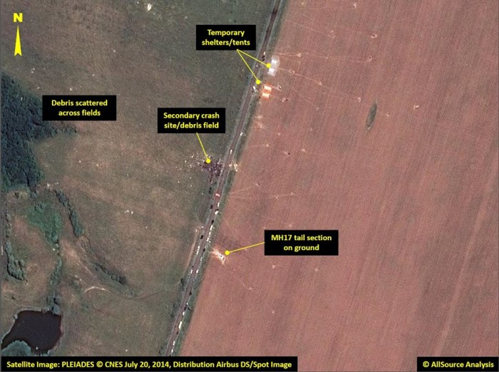 Satellite images of MH17 crash: Amid field of sunflowers, patches of despair. http://cna.asia/1pyufJo Photo: Airbus DS / AllSource Analysis