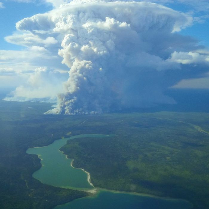 7-10-2014: The Northwest Territories is suffering through one of the worst summers for forest fires in decades and the photos are otherworldly.