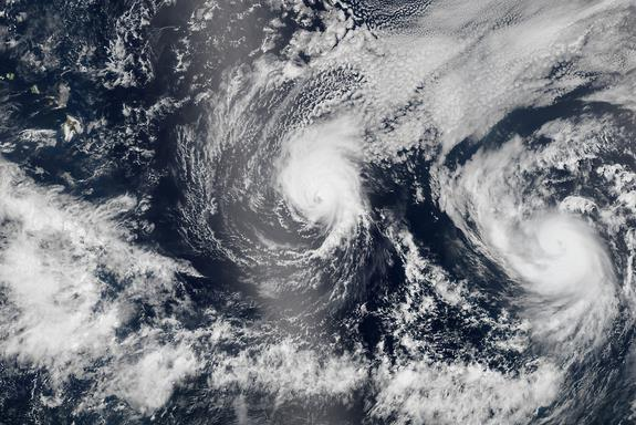 8-8-2014: No hurricane has made landfall on Hawaii in 22 years. But now, not one but two swirling storms are headed for the Pacific island chain. This is what it looks like from space: