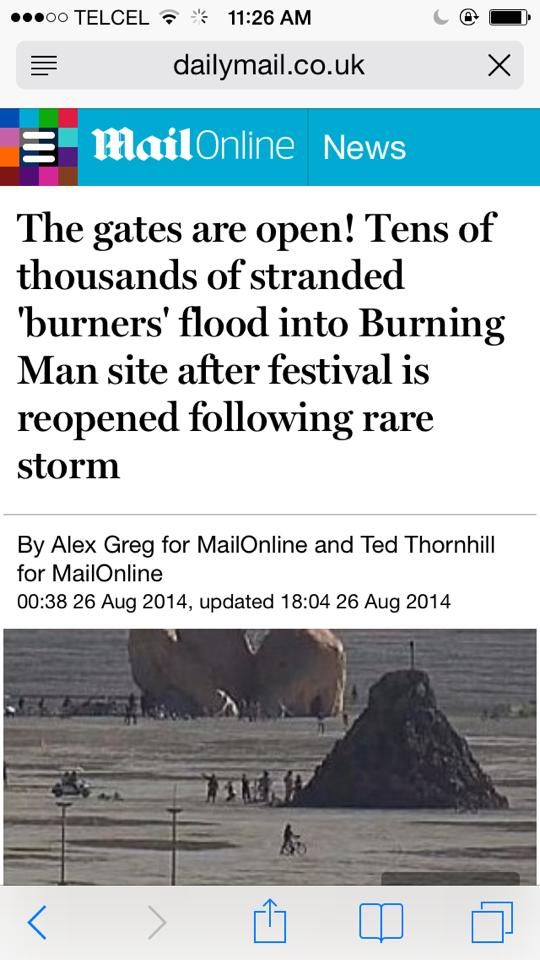 "The ""Burners"" got hit with a Flood of ""Water"". ""The Gates are open!"""